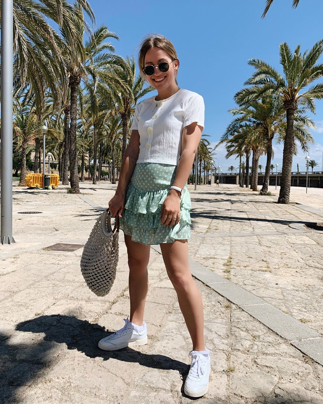 polka dot jacquard skirts de Zara sur dani_nanaa