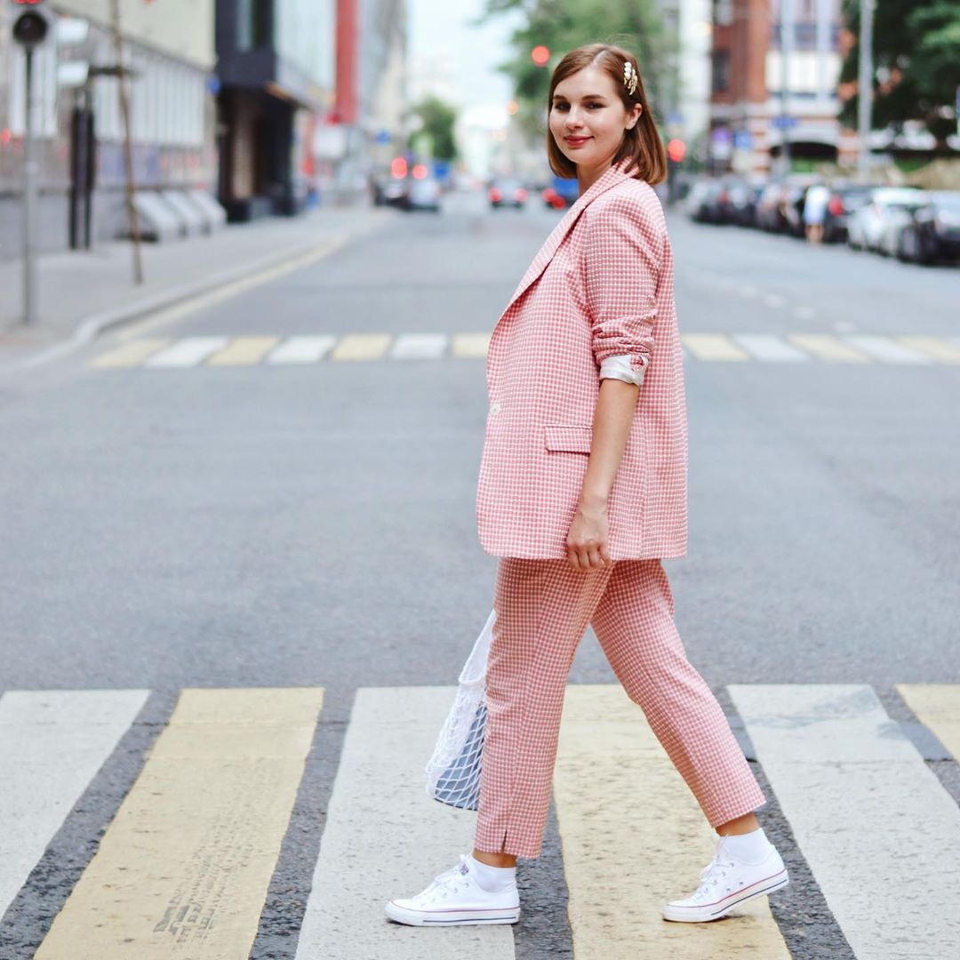 gingham plaid jacket de Zara sur gurskaya_natali