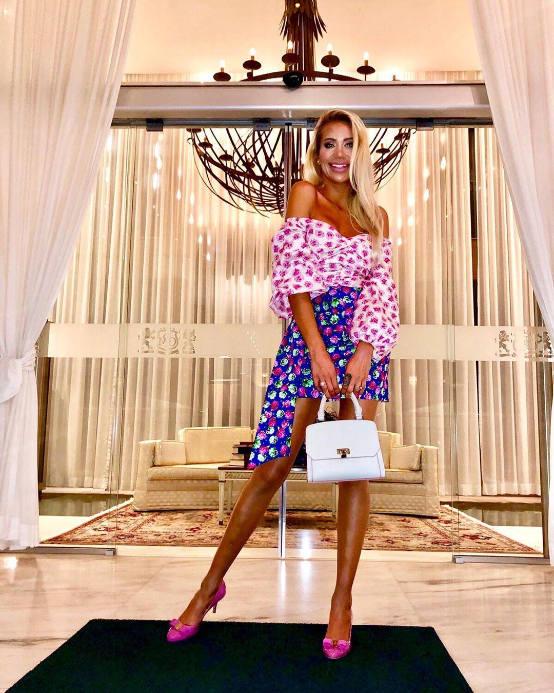printed bow skirt de Zara sur laura_michail