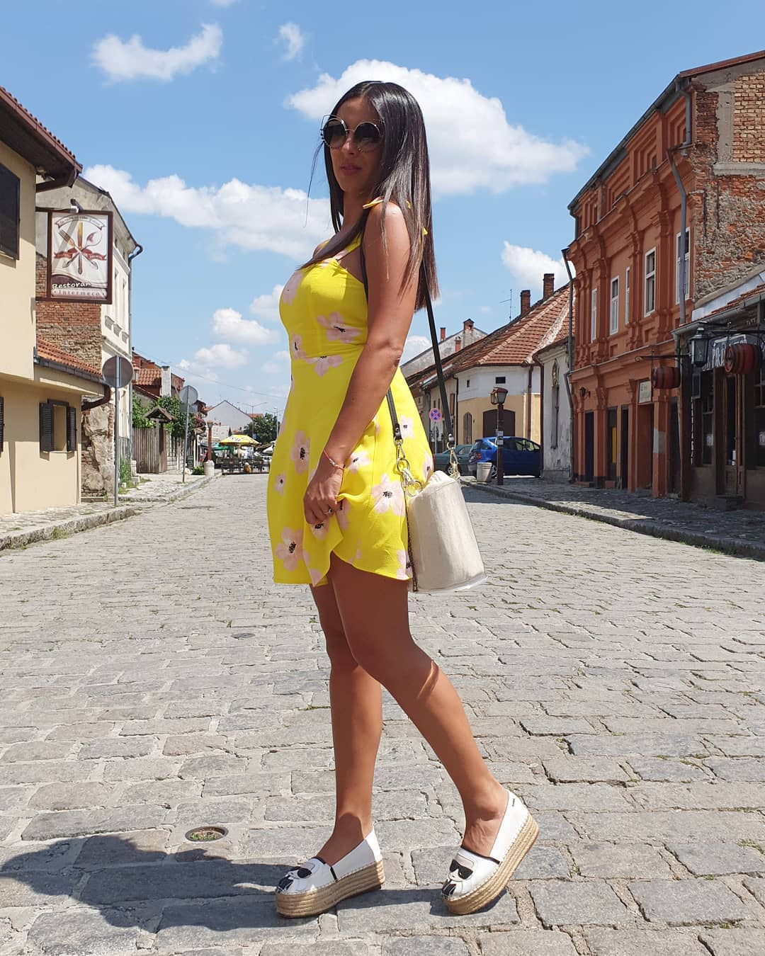 raw printed dress de Zara sur marijanikitovic