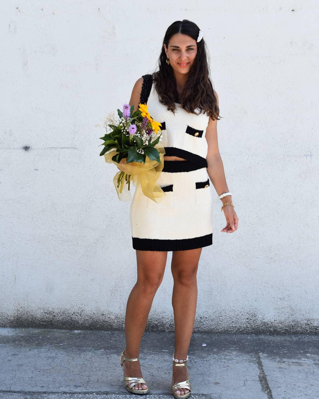 contrast trimmed mini skirt de Zara sur _vanci_