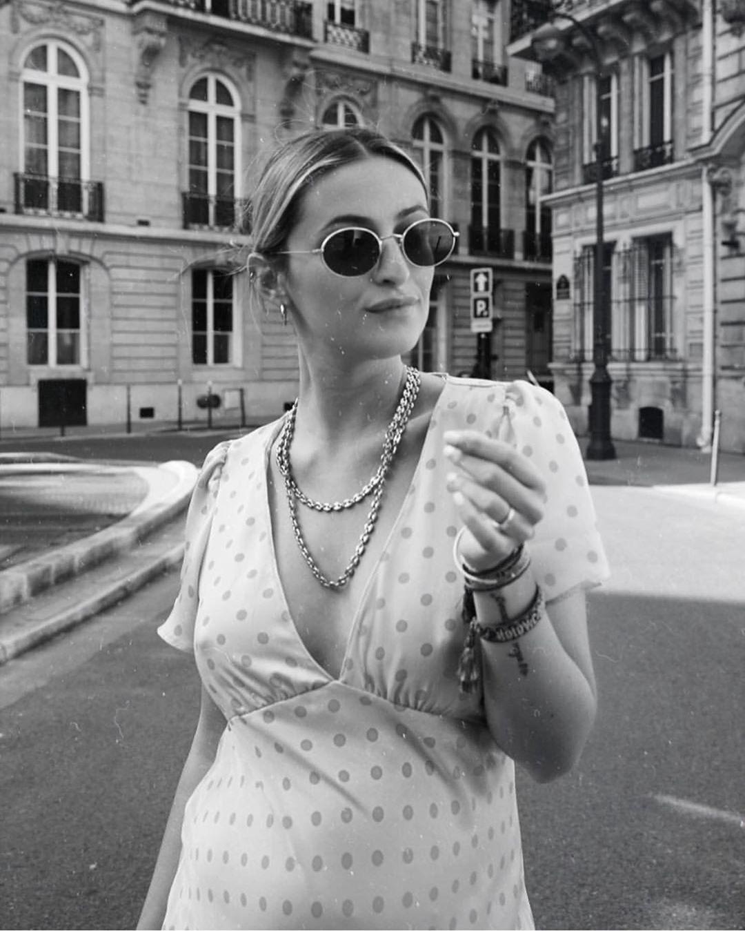 polka dots long dress de Zara sur jadevaparis