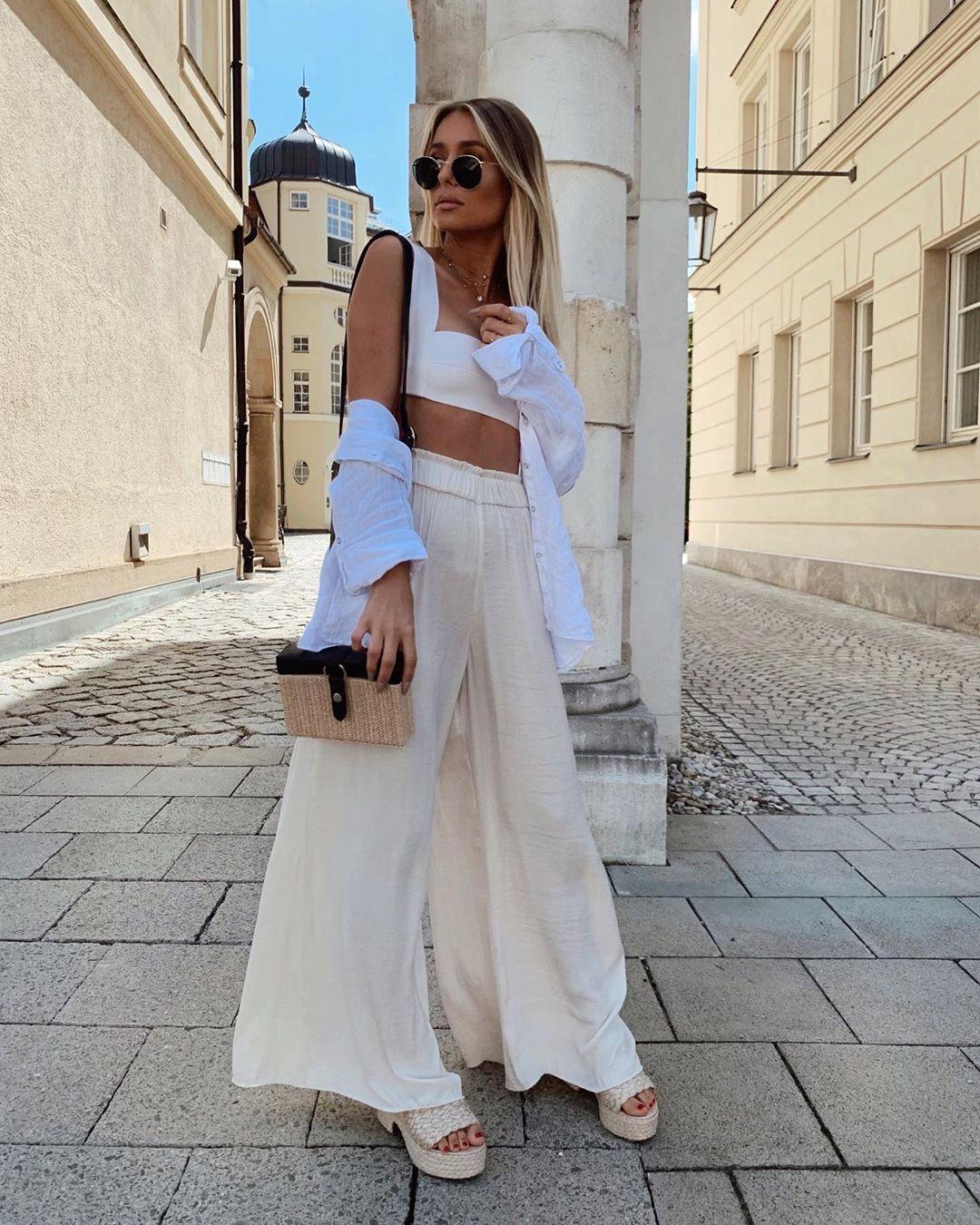 flowing wide pants de Zara sur phiaka
