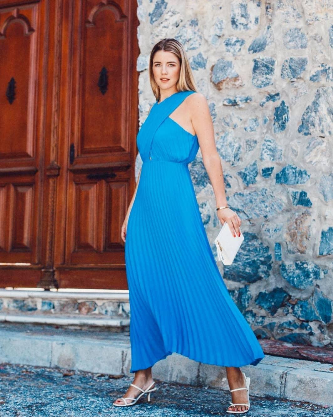 crossover pleated dress de Zara sur princesapor1dia