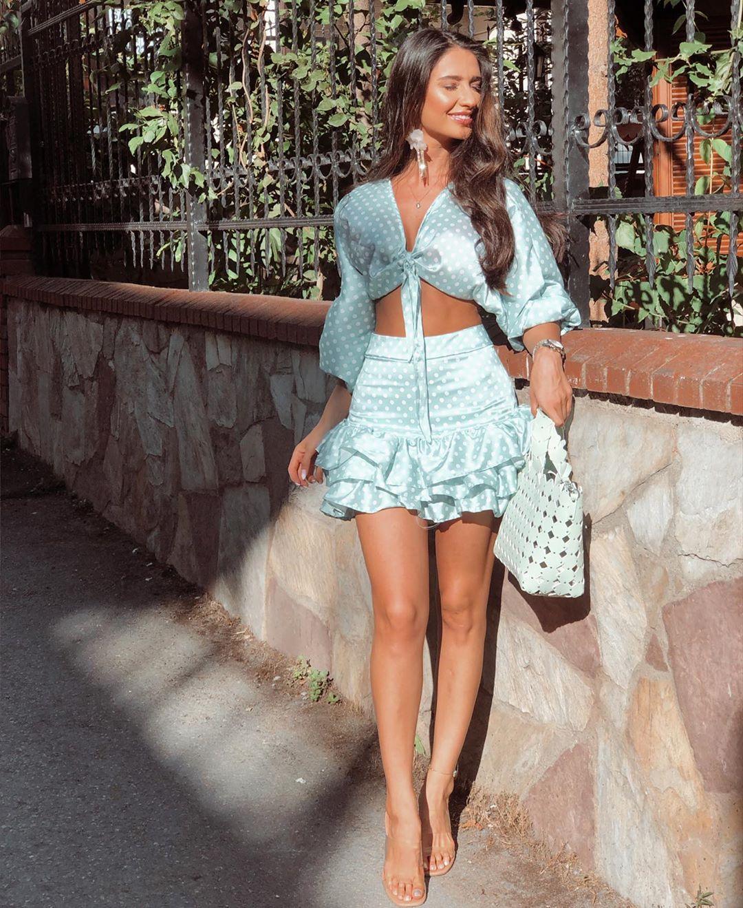 jacquard top with polka dots and bow de Zara sur yasmin_tz