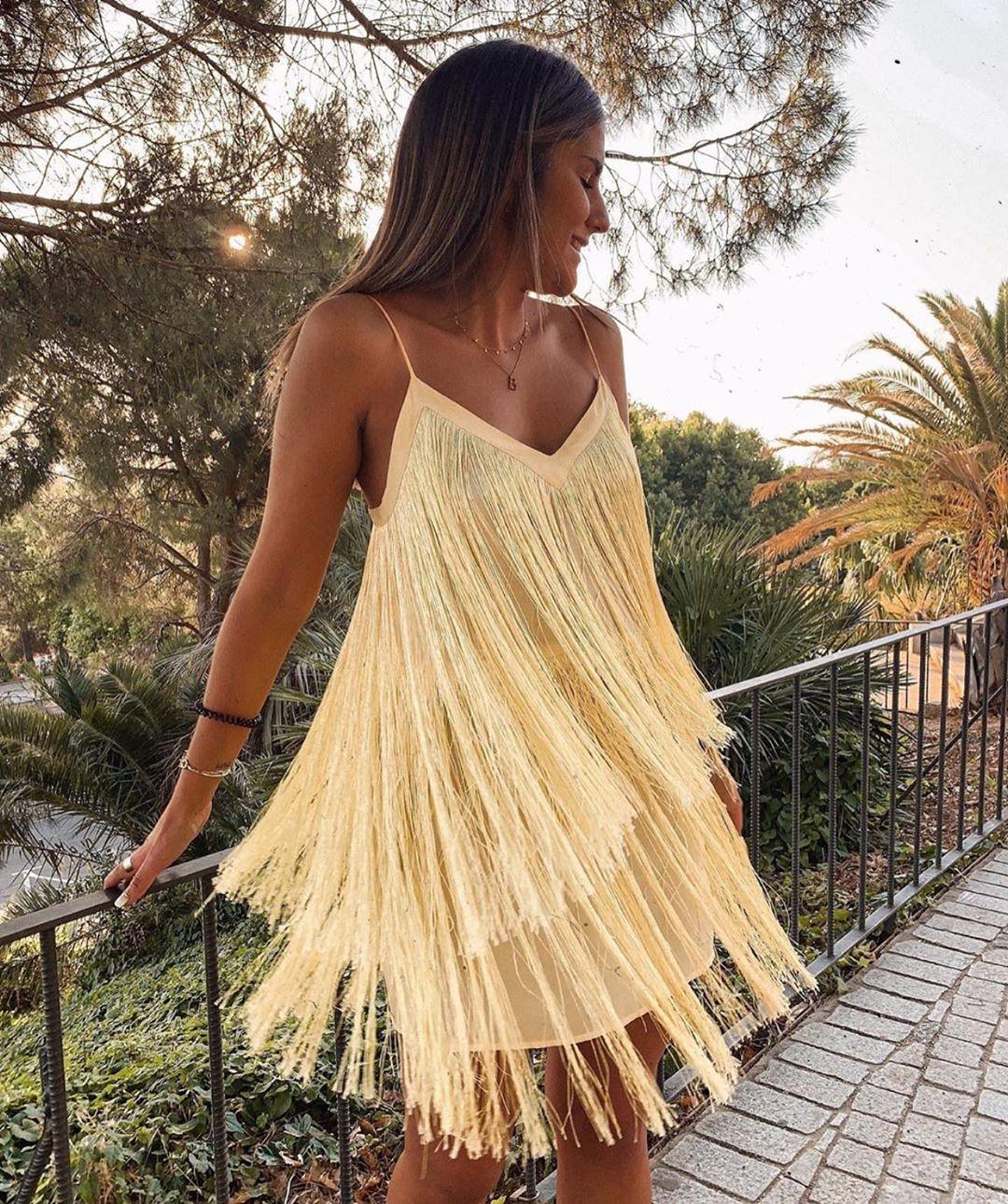 fringed dress de Zara sur zaraaddiction