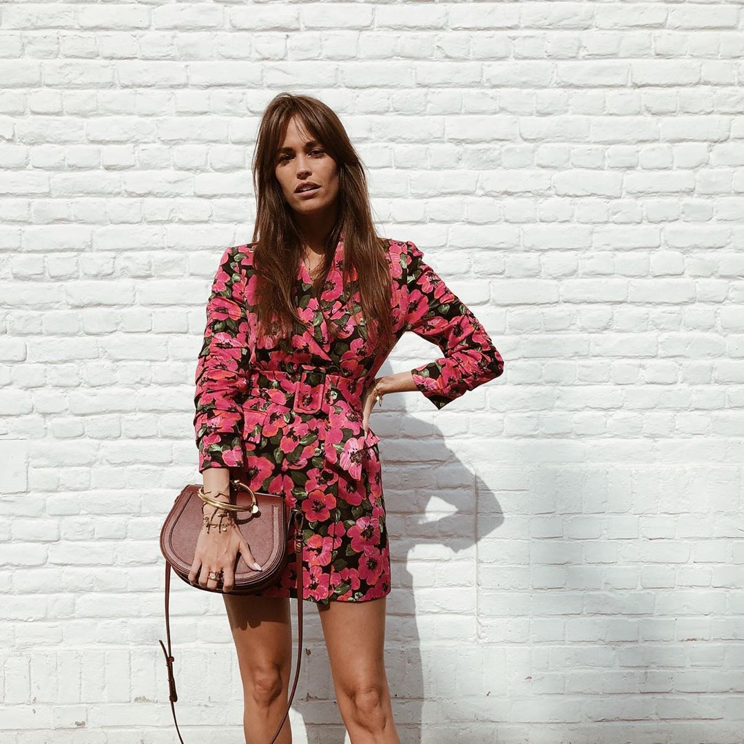 robe à imprimé et fronces de Zara sur alisontoby