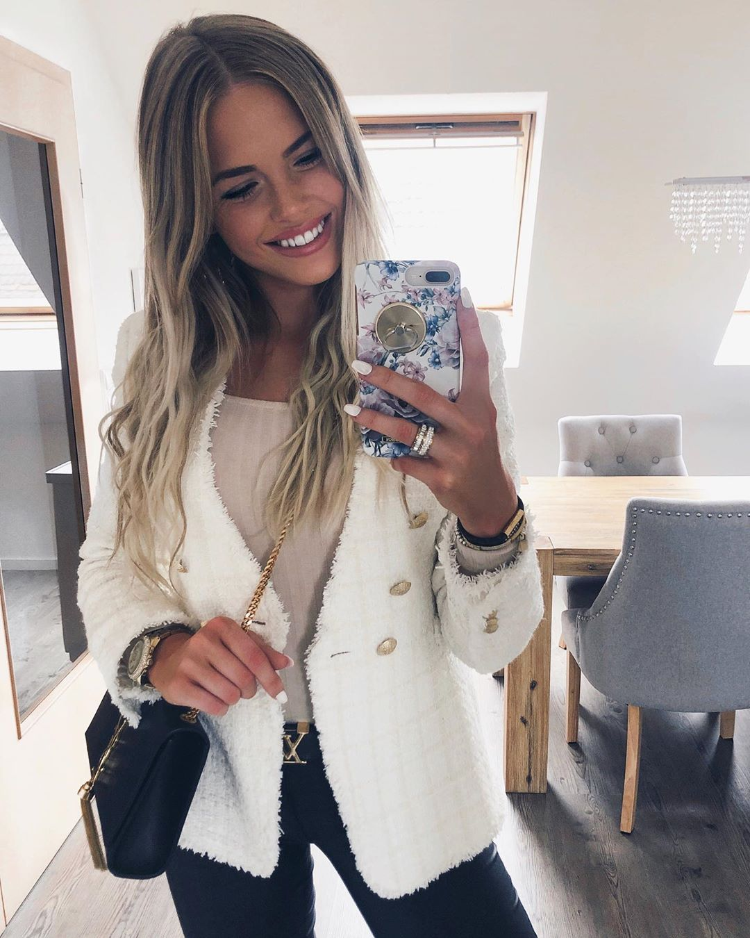 tweed jacket de Zara sur saarahkatharina