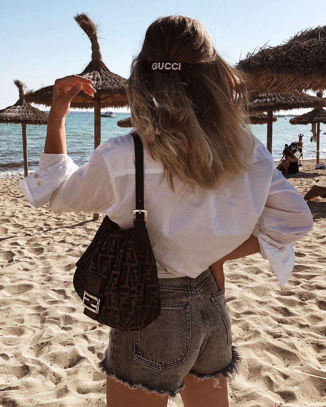 high-waisted denim shorts de Zara sur linneafunks