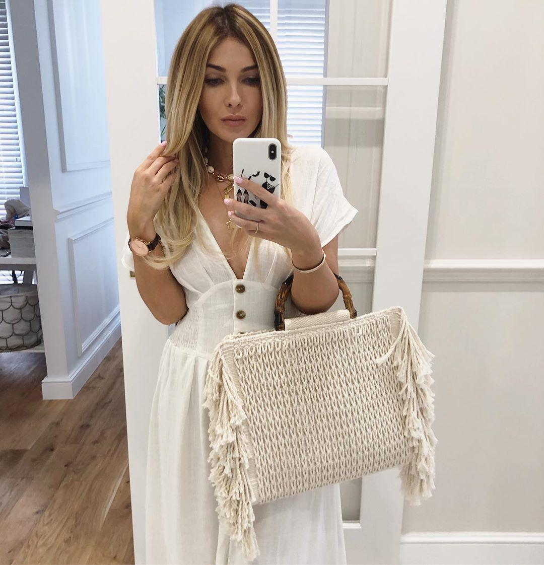 fringed canvas shopper bag de Zara sur mirabelove