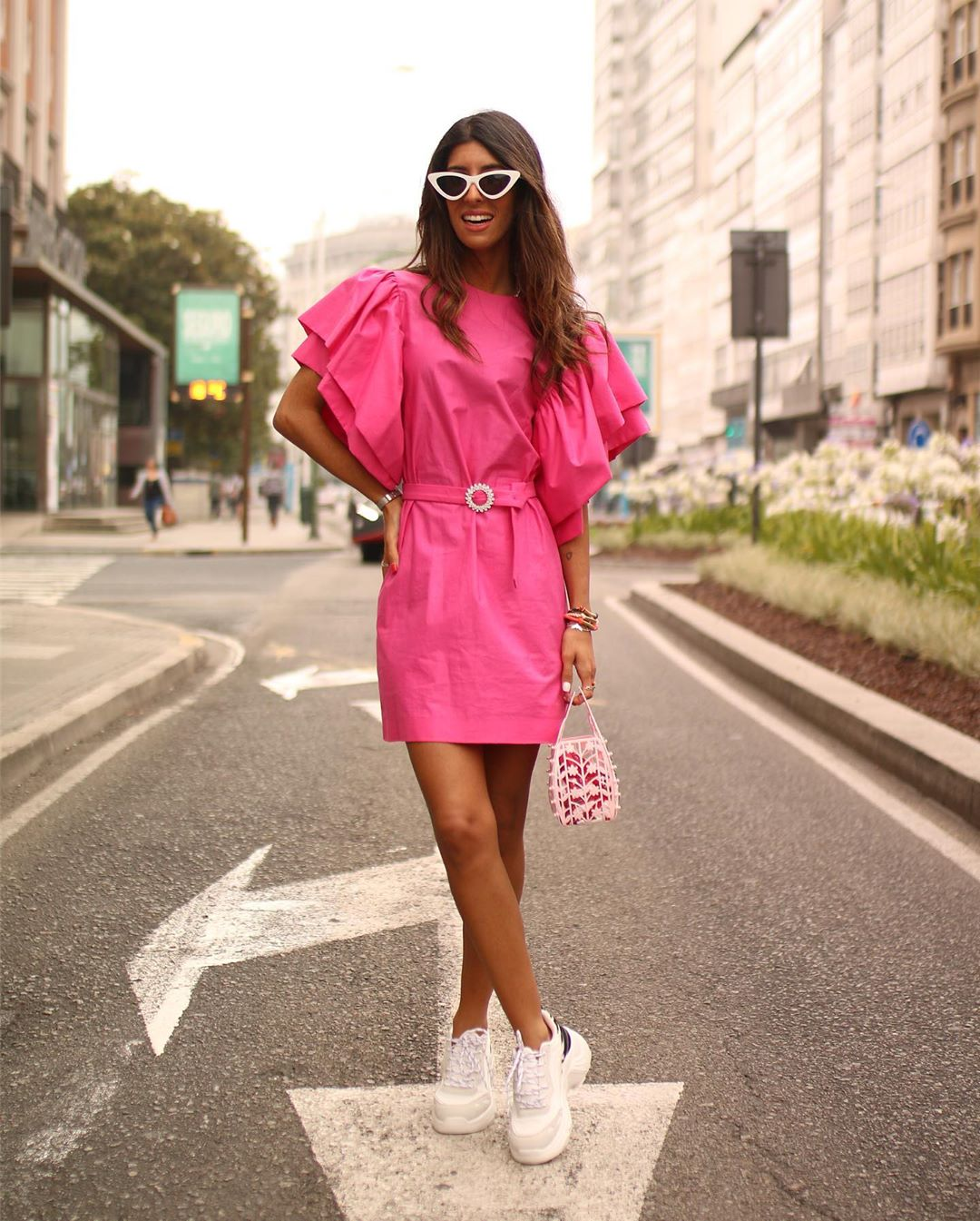dress with loose sleeves de Zara sur maarttaan