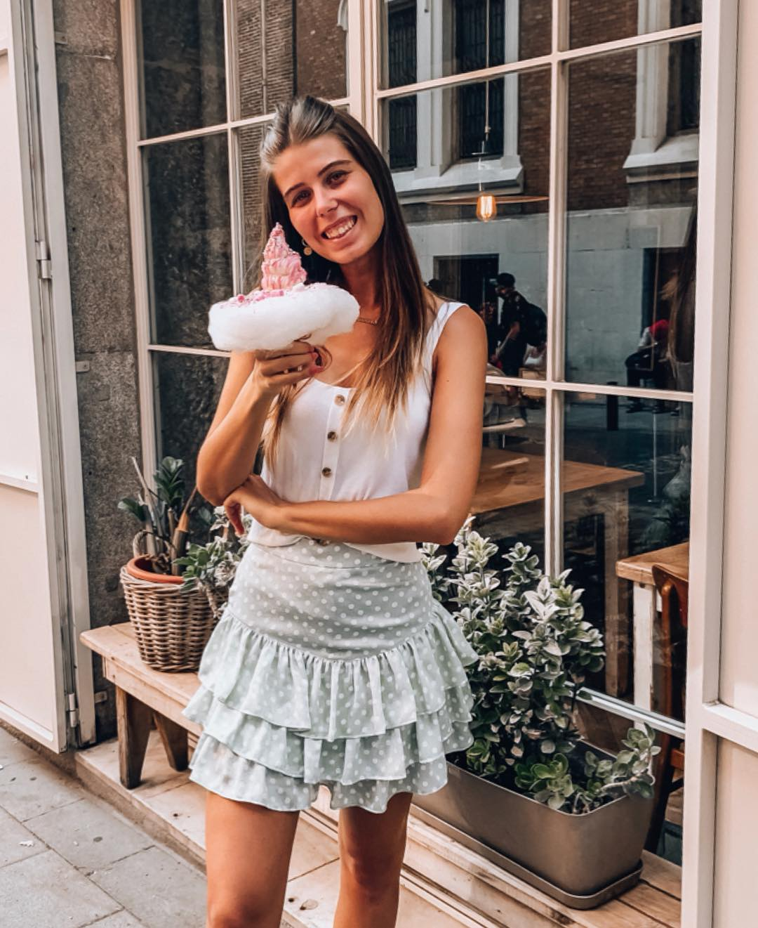 polka dot jacquard skirts de Zara sur nooomsworld