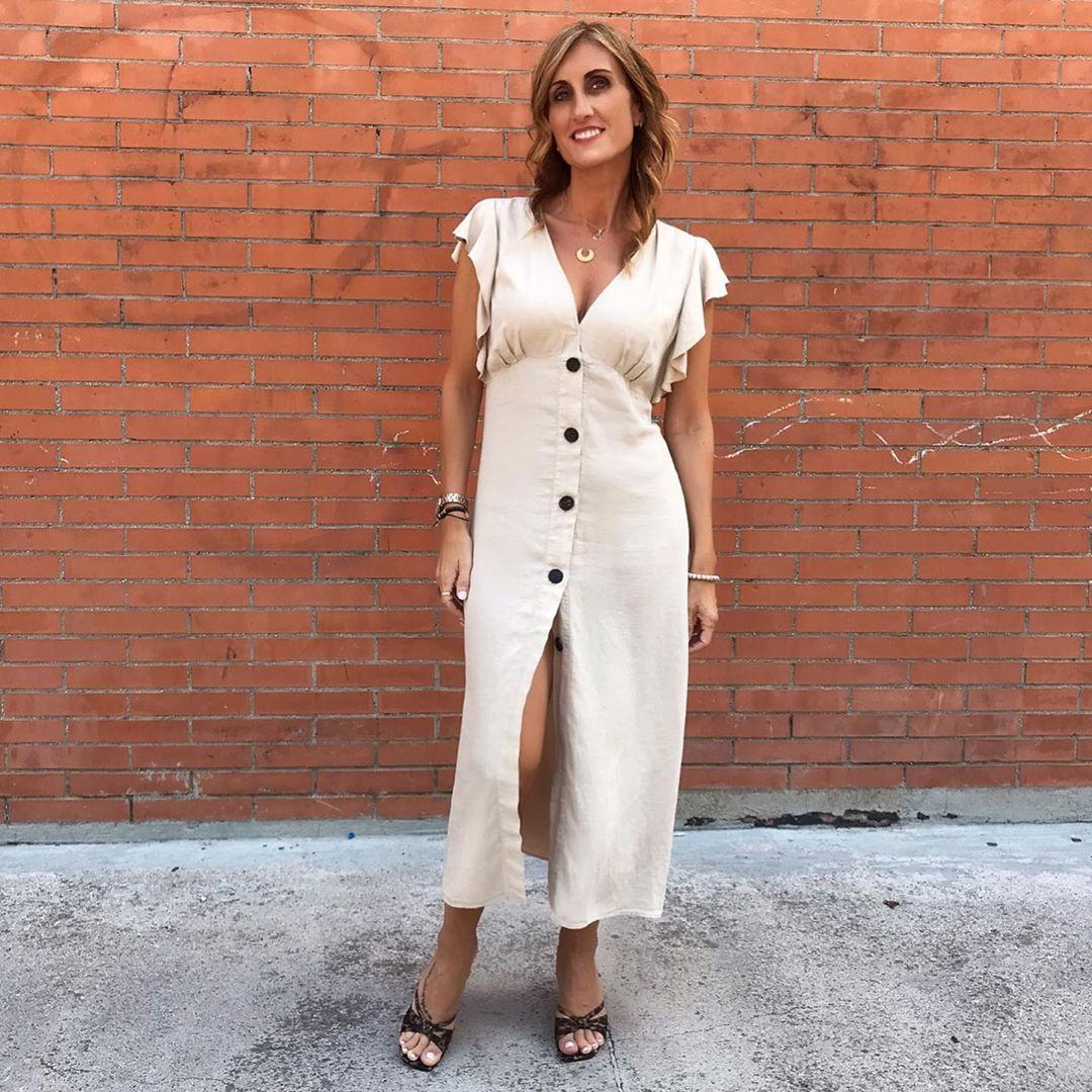 rude dress with ruffle de Zara sur _sonia_style