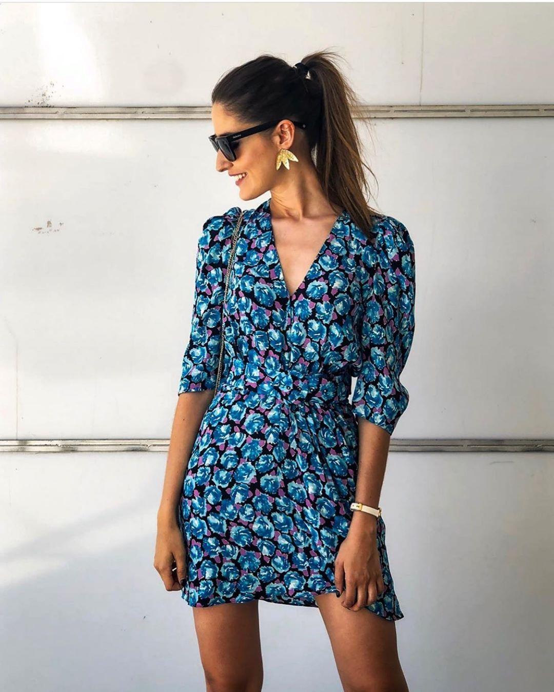 puff print dress de Zara sur streetzarastyle