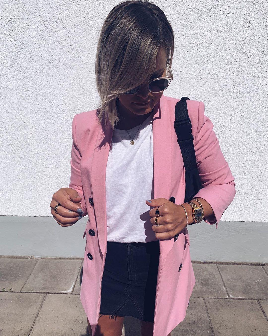 crossover breasted jacket de Zara sur myfashionkingdom