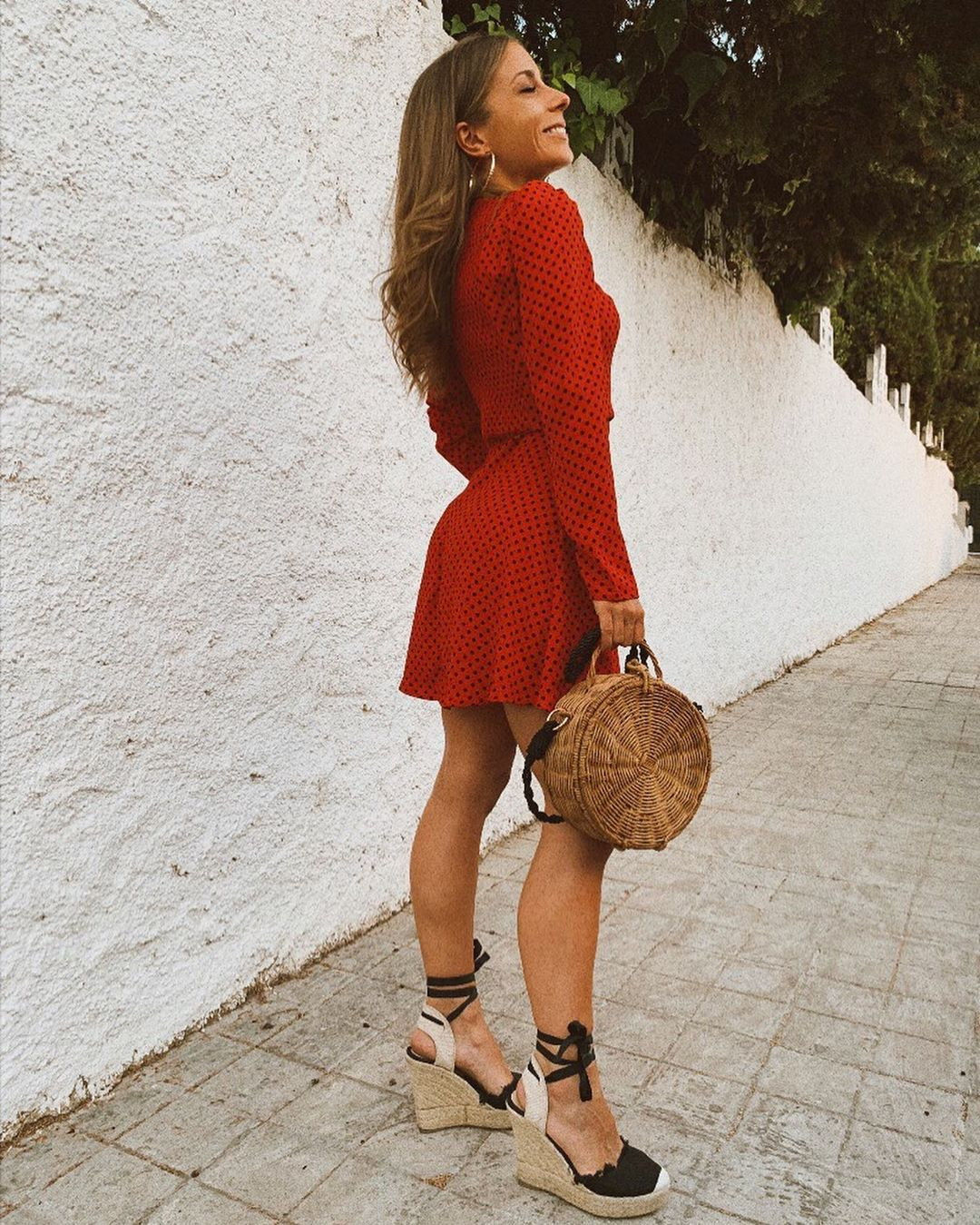 polka dot dress de Zara sur rozuhcas