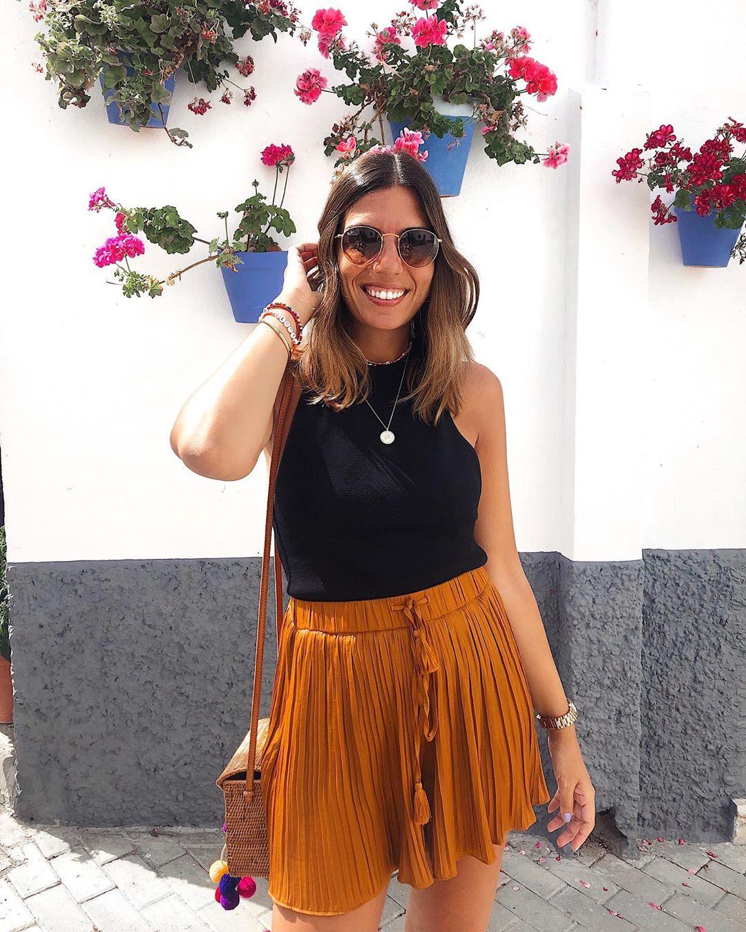 pleated shorts de Zara sur lau_closet