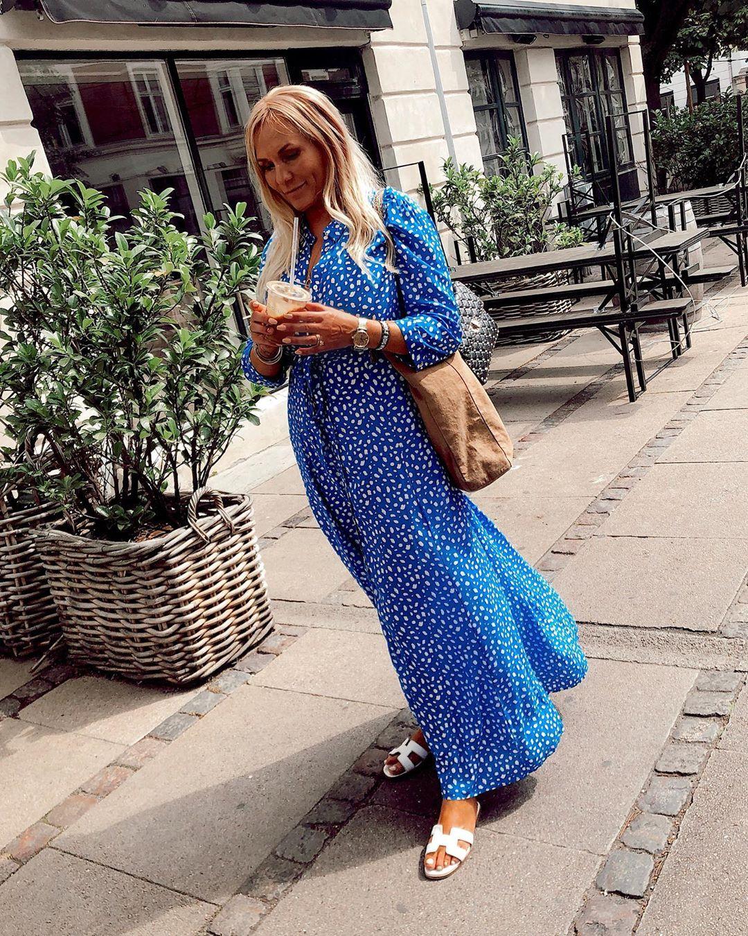 printed long dress de Zara sur henrietteohlsen