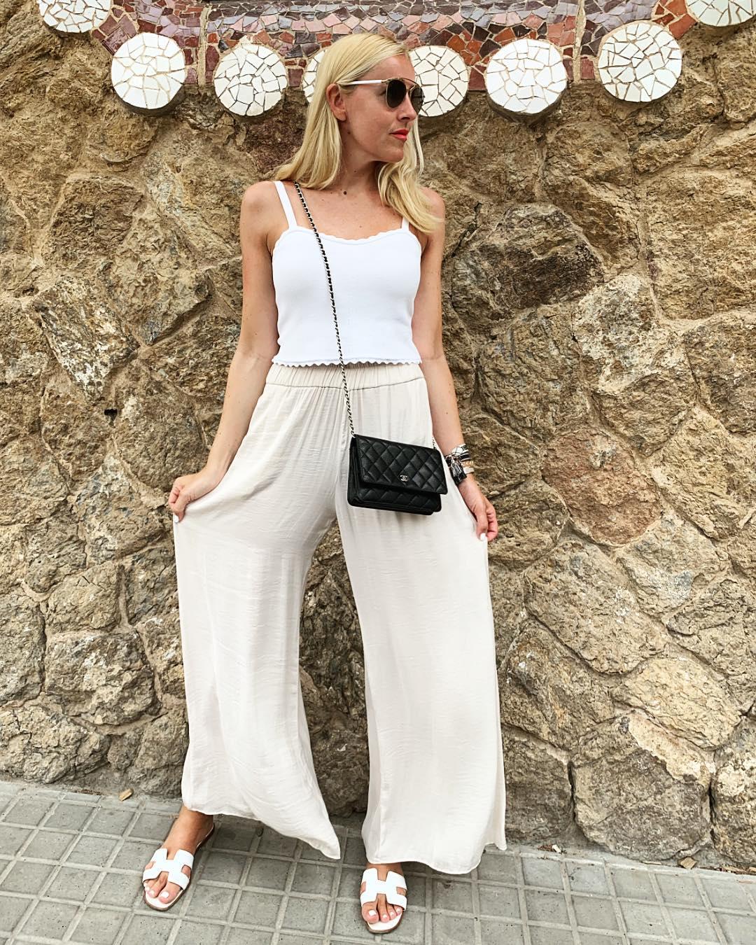 flowing wide pants de Zara sur its.me.romy
