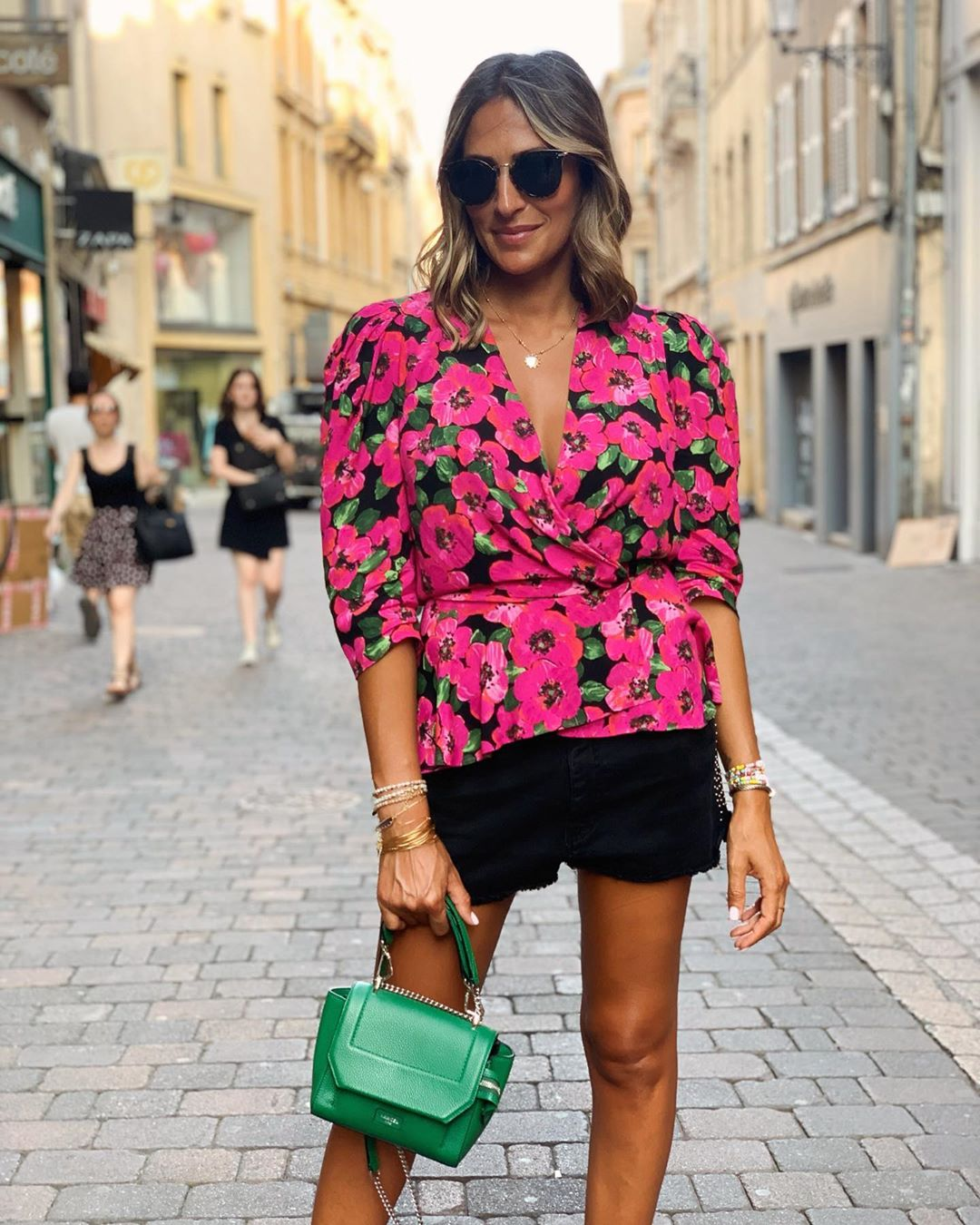 loose print blouse de Zara sur yasmine.zeroc