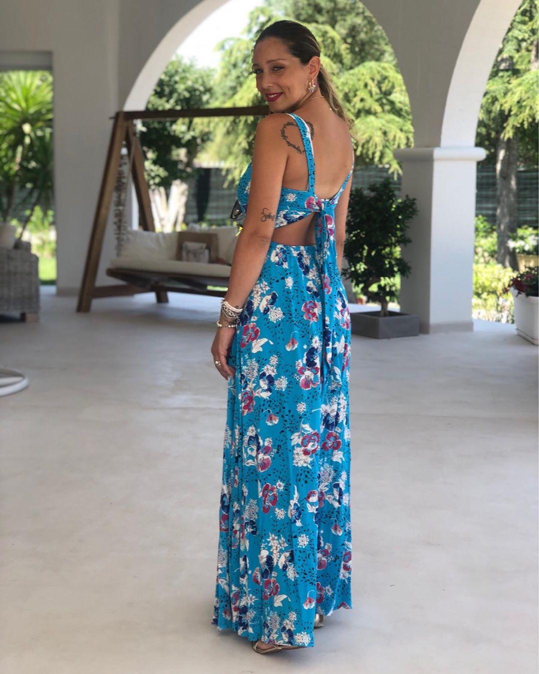 dress with print and straps de Zara sur valeryfabienbalestra