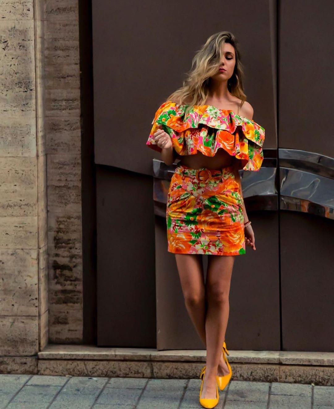 jupe imprimée édition limitée de Zara sur zara.outfits