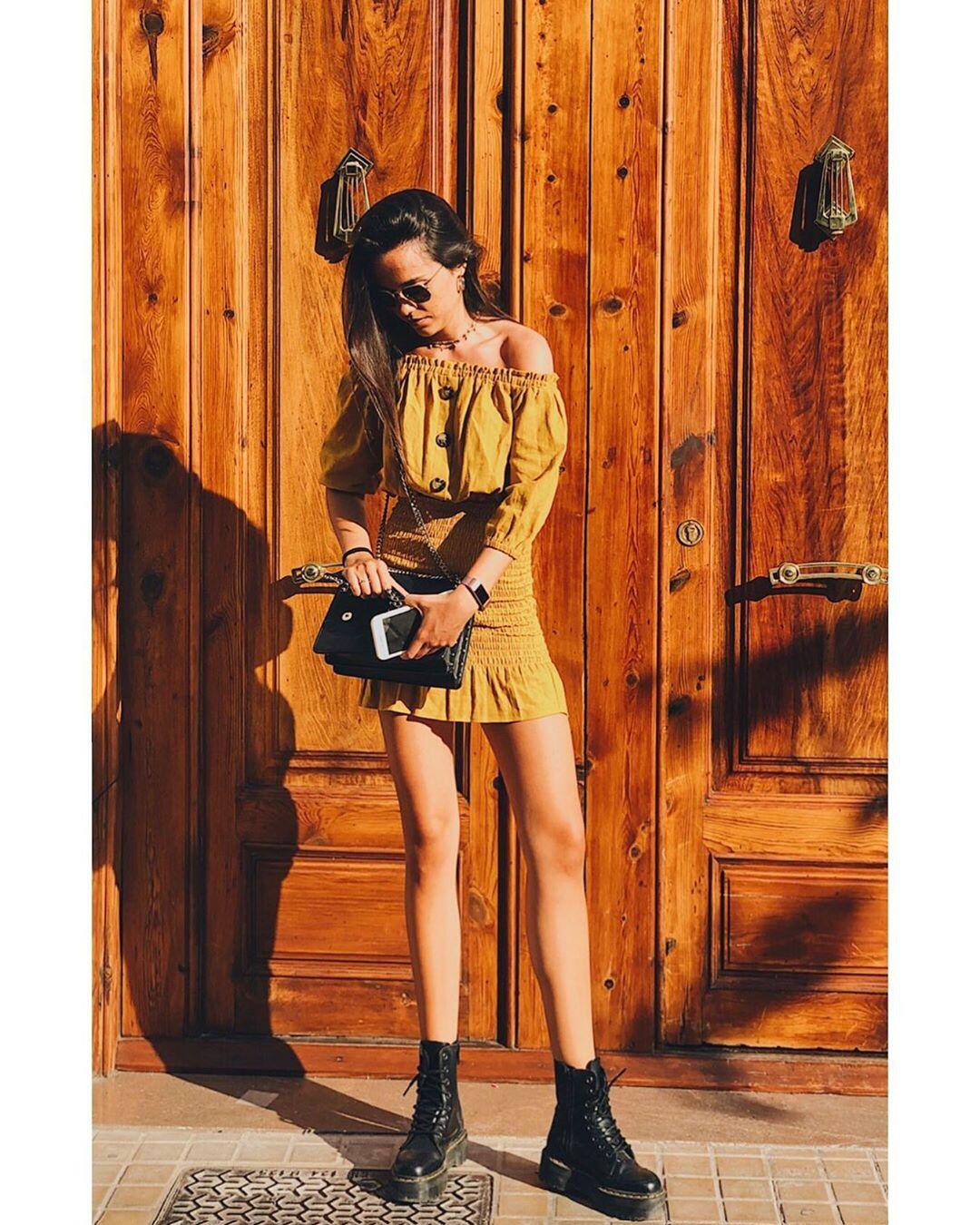 raw effect dress de Zara sur irenealbi