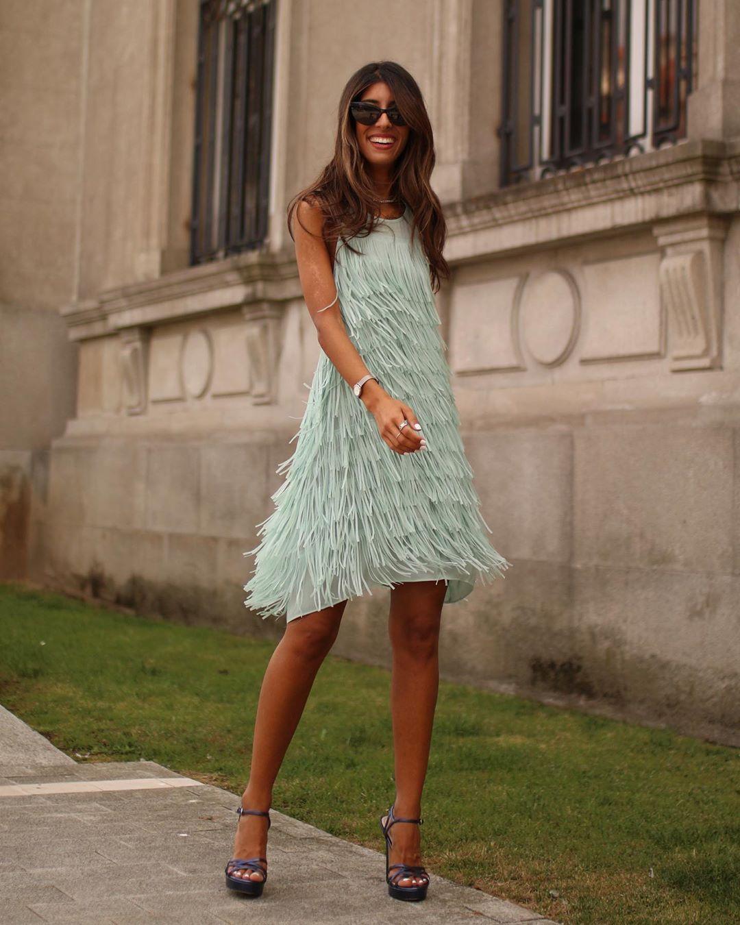 fringed short dress de Zara sur maarttaan