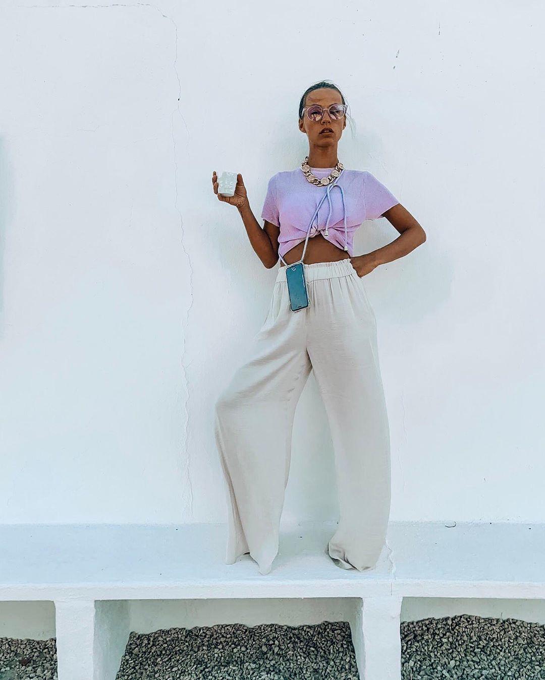 pantalon large fluide de Zara sur sachabaleriaux