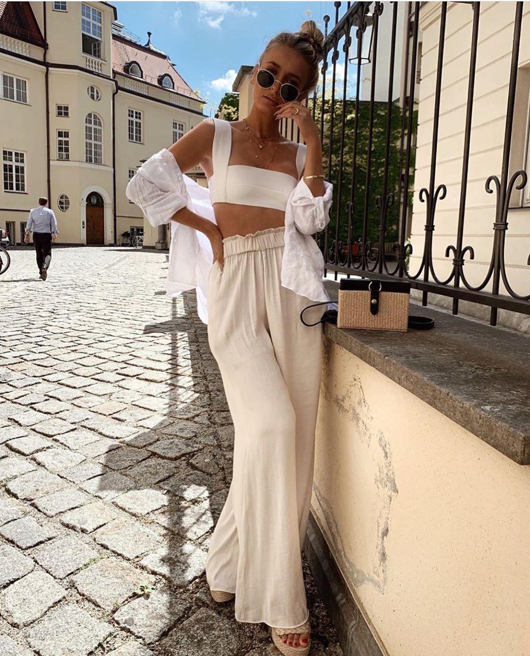 pantalon large fluide de Zara sur zara.outfits