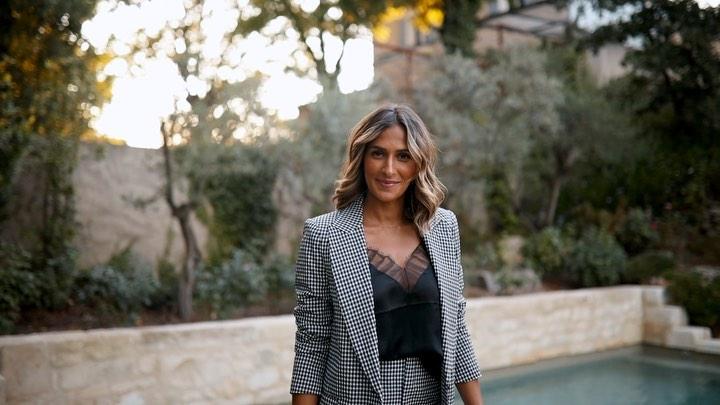 gingham plaid jacket de Zara sur yasmine.zeroc