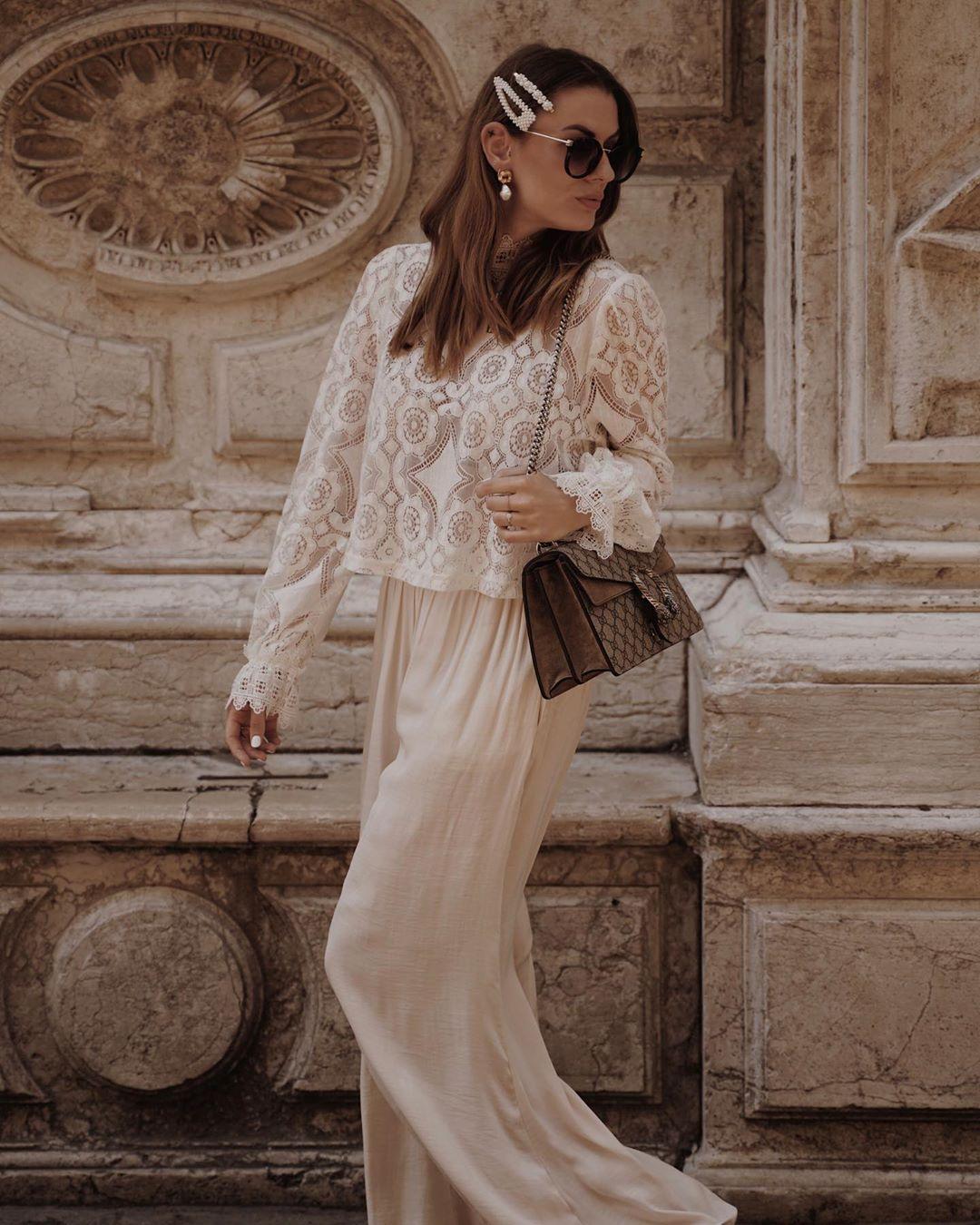 flowing wide pants de Zara sur sarahallegra