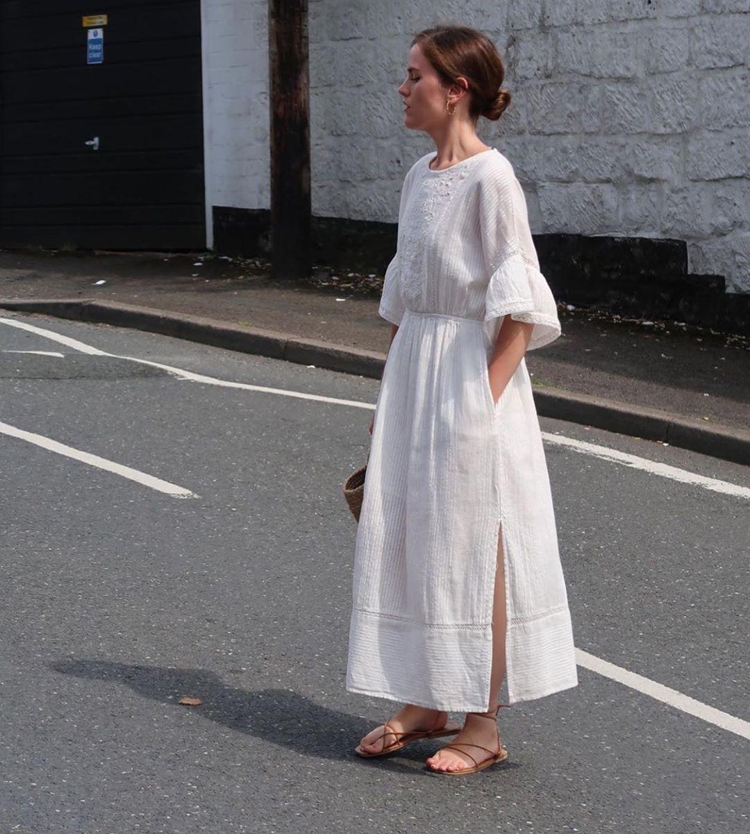 robe brodée de Zara sur zara.mania