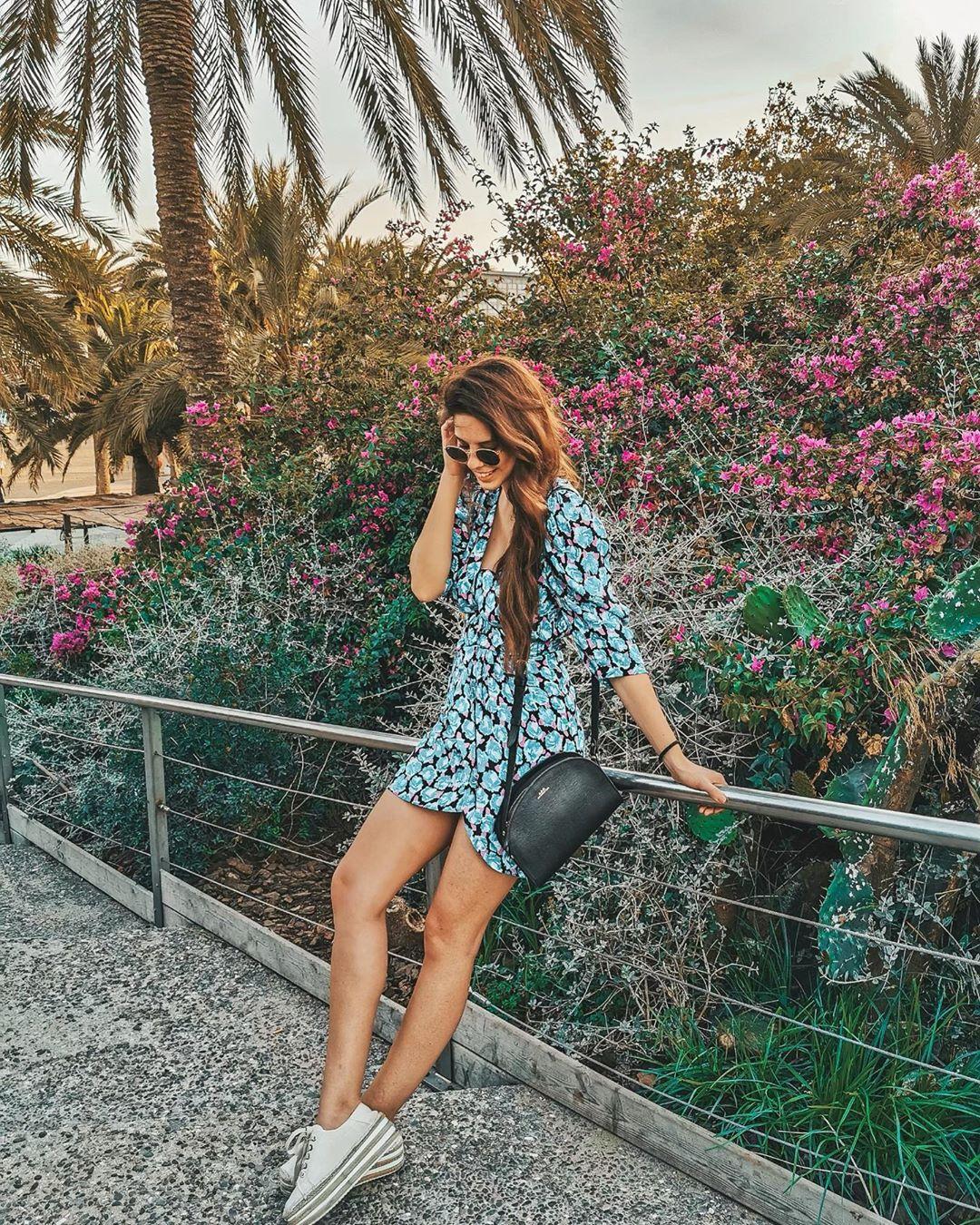 puff print dress de Zara sur marina_bohemienne