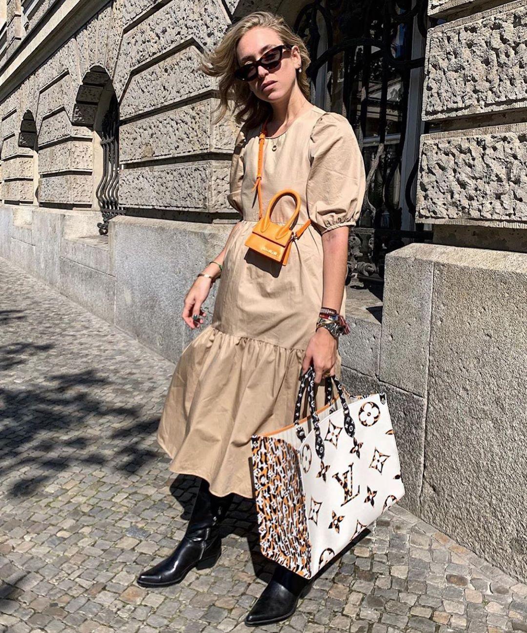 robe asymétrique en popeline de Zara sur zara.mania