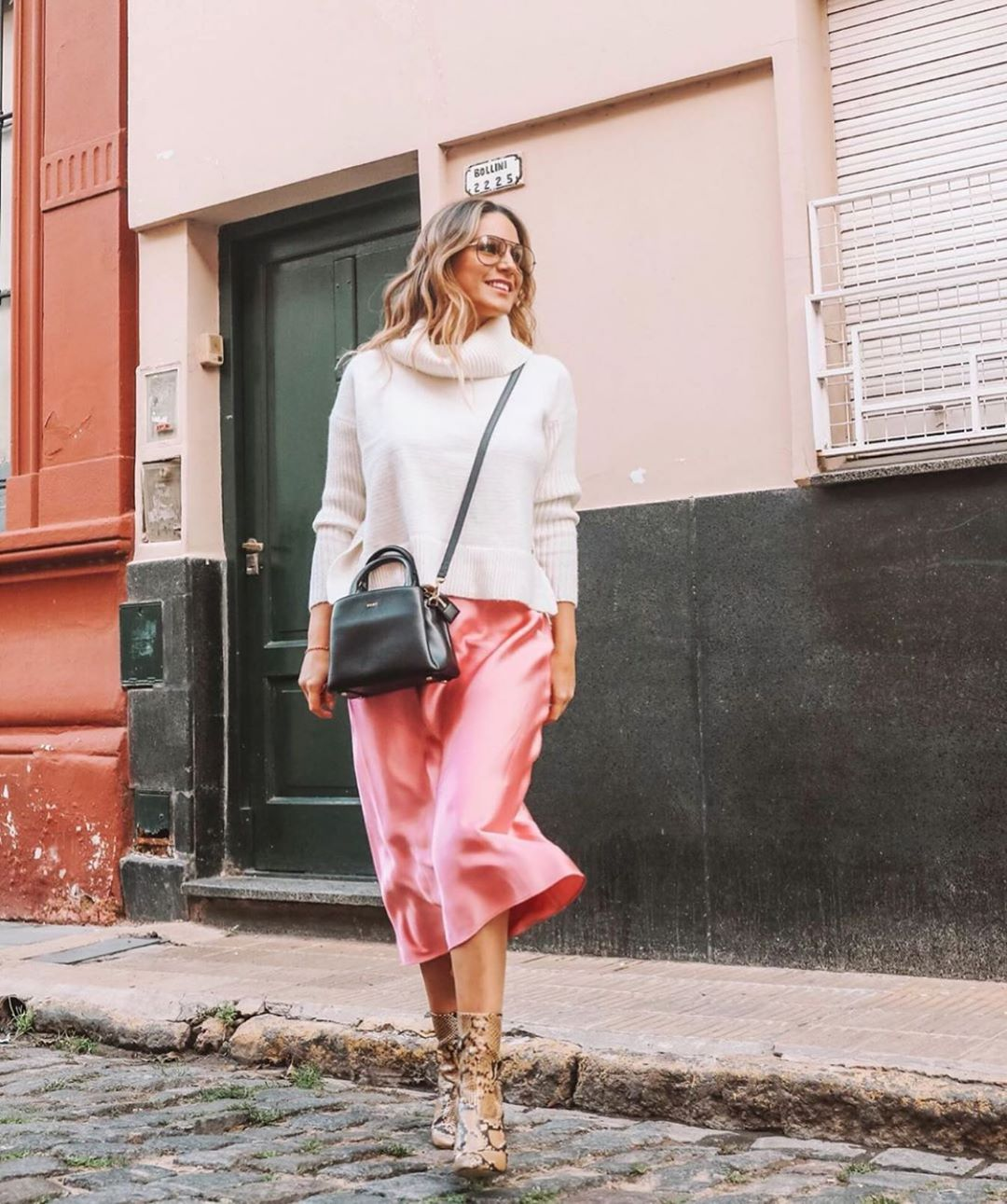 jupe satinée de Zara sur zara.outfits