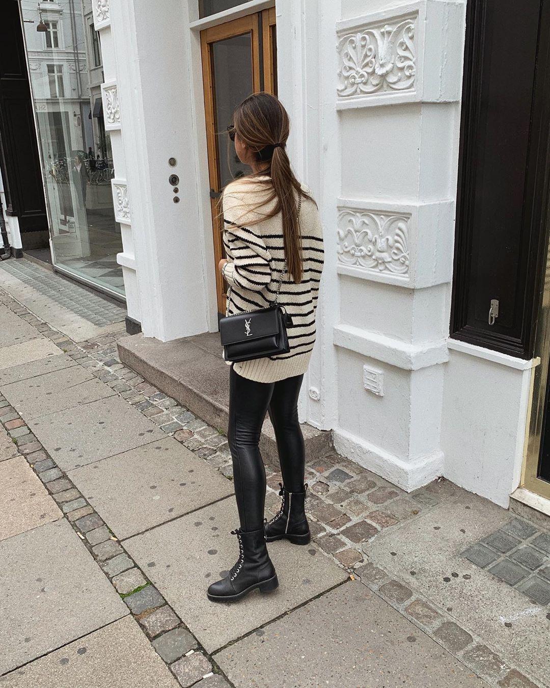 striped knit sweater de Zara sur mystylebook