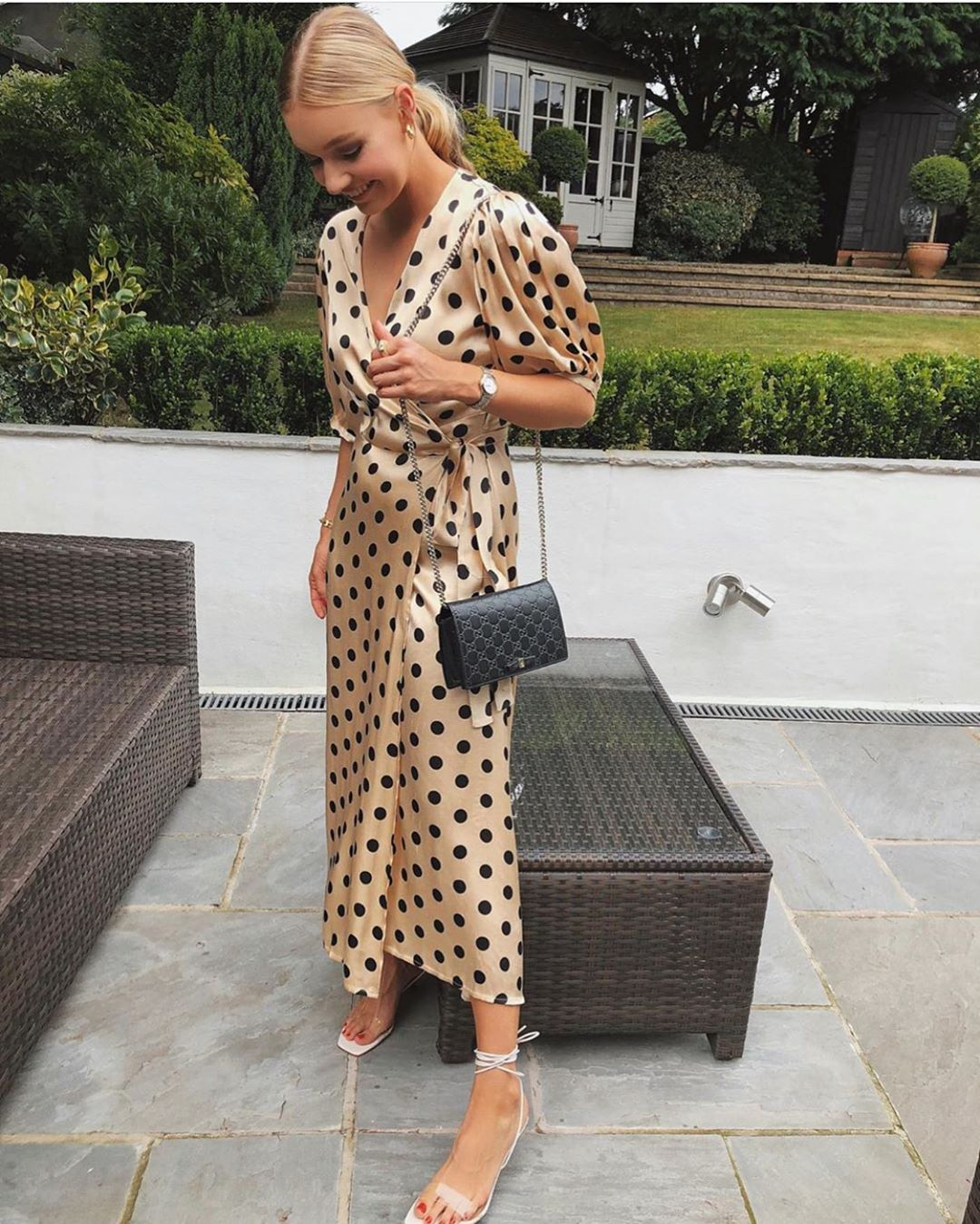 robe portefeuille à pois de Zara sur zara.mania