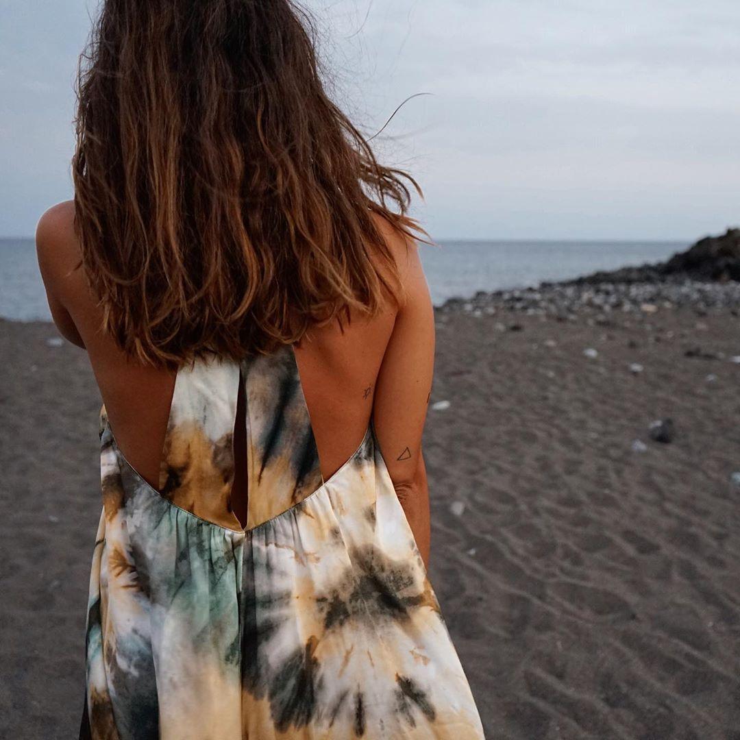 tie & dye print dress de Zara sur ana_stbty