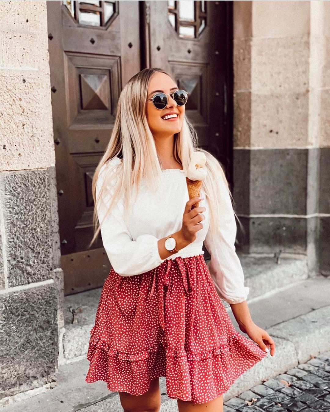 jupe-short imprimée de Zara sur zara.outfits