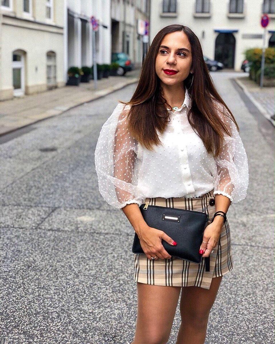 semi-transparent plumetis blouse de Zara sur miss.soula.toriello