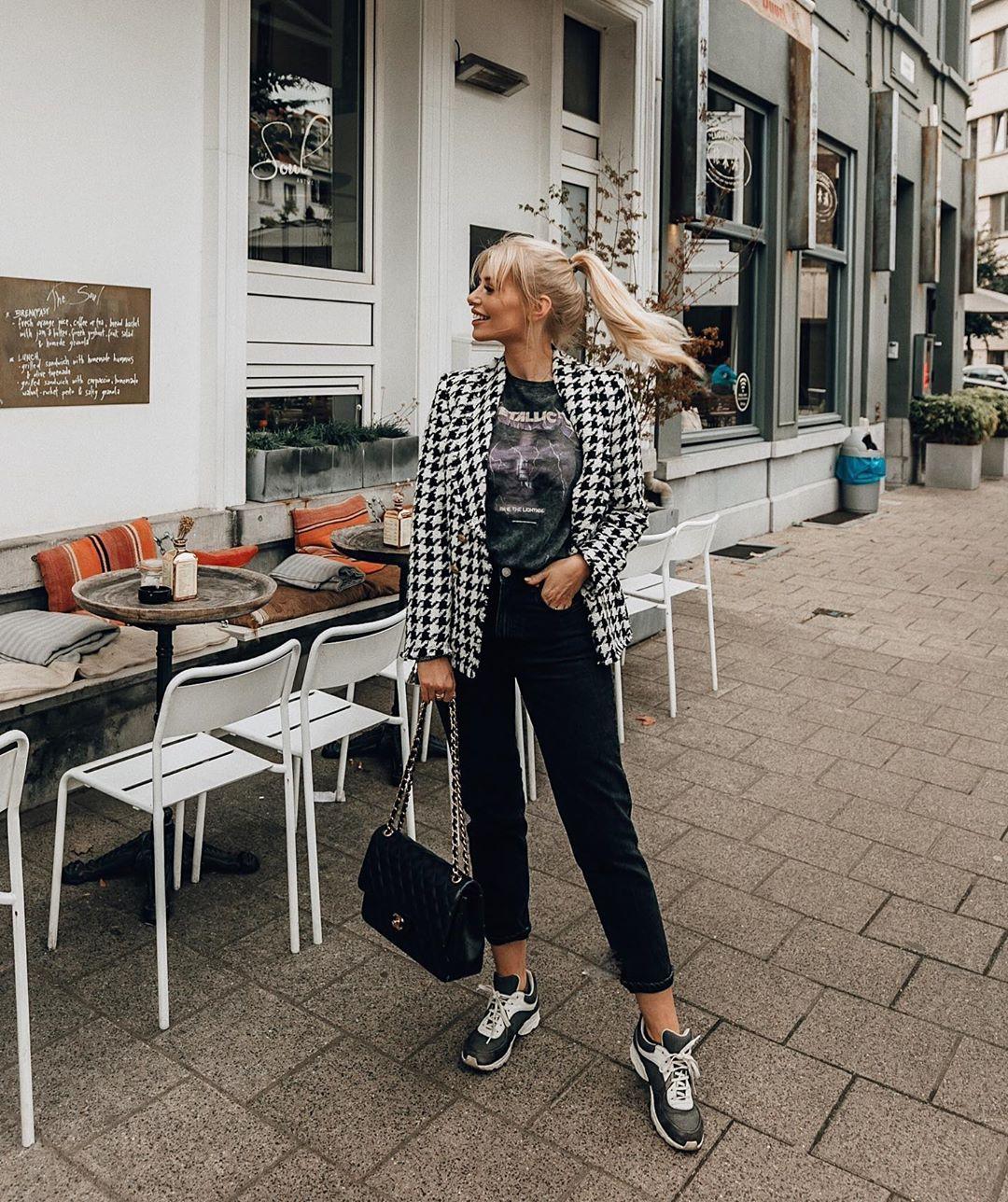 veste pied-de-poule de Zara sur annabelpesant