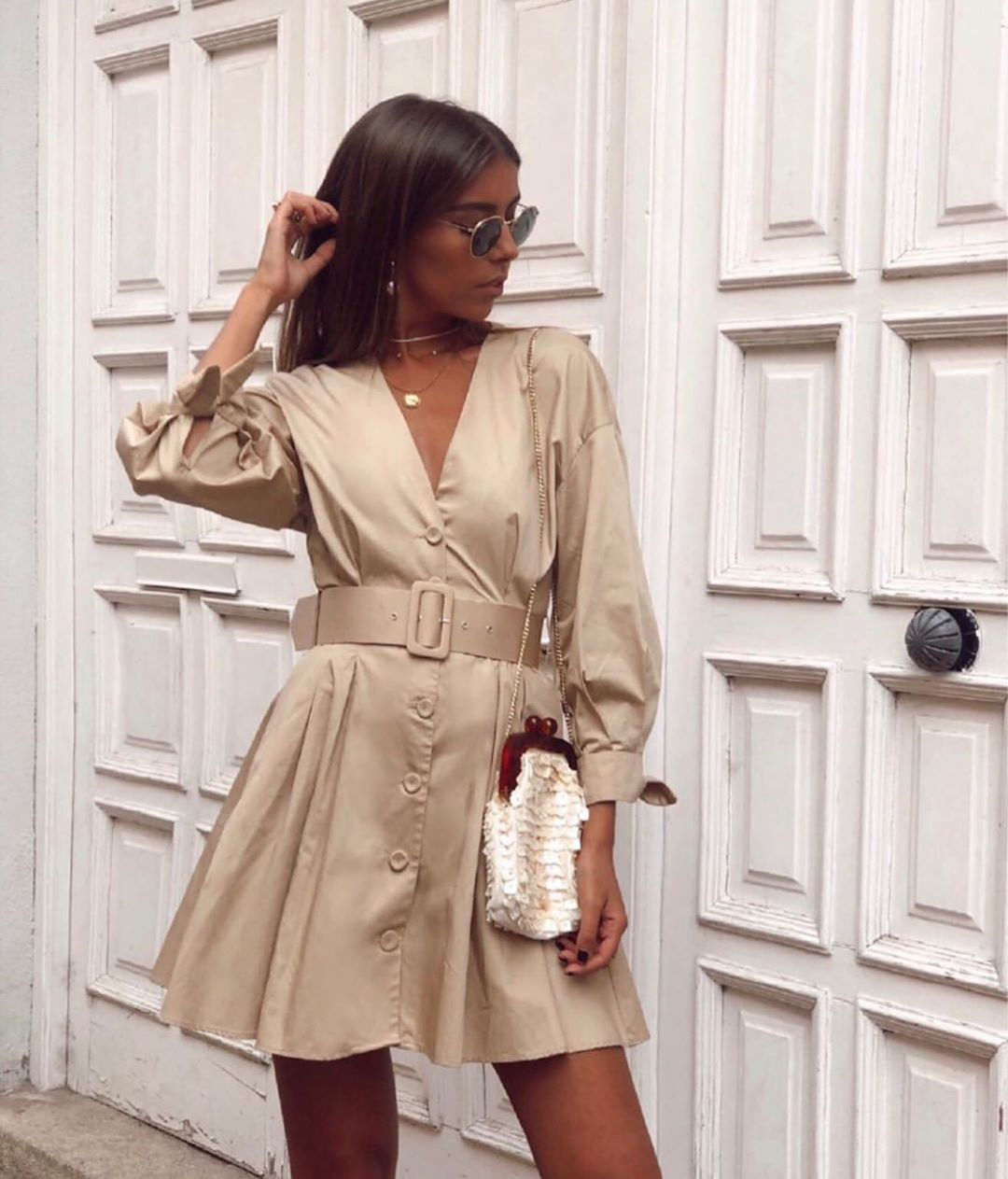 robe à ceinture de Zara sur zara.outfits