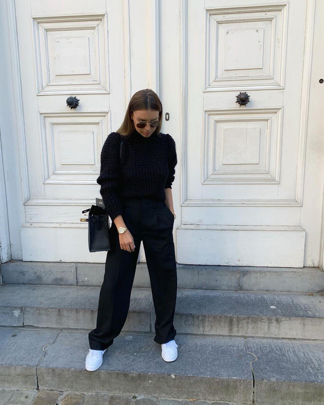 structured short sweater de Zara sur florenceolette