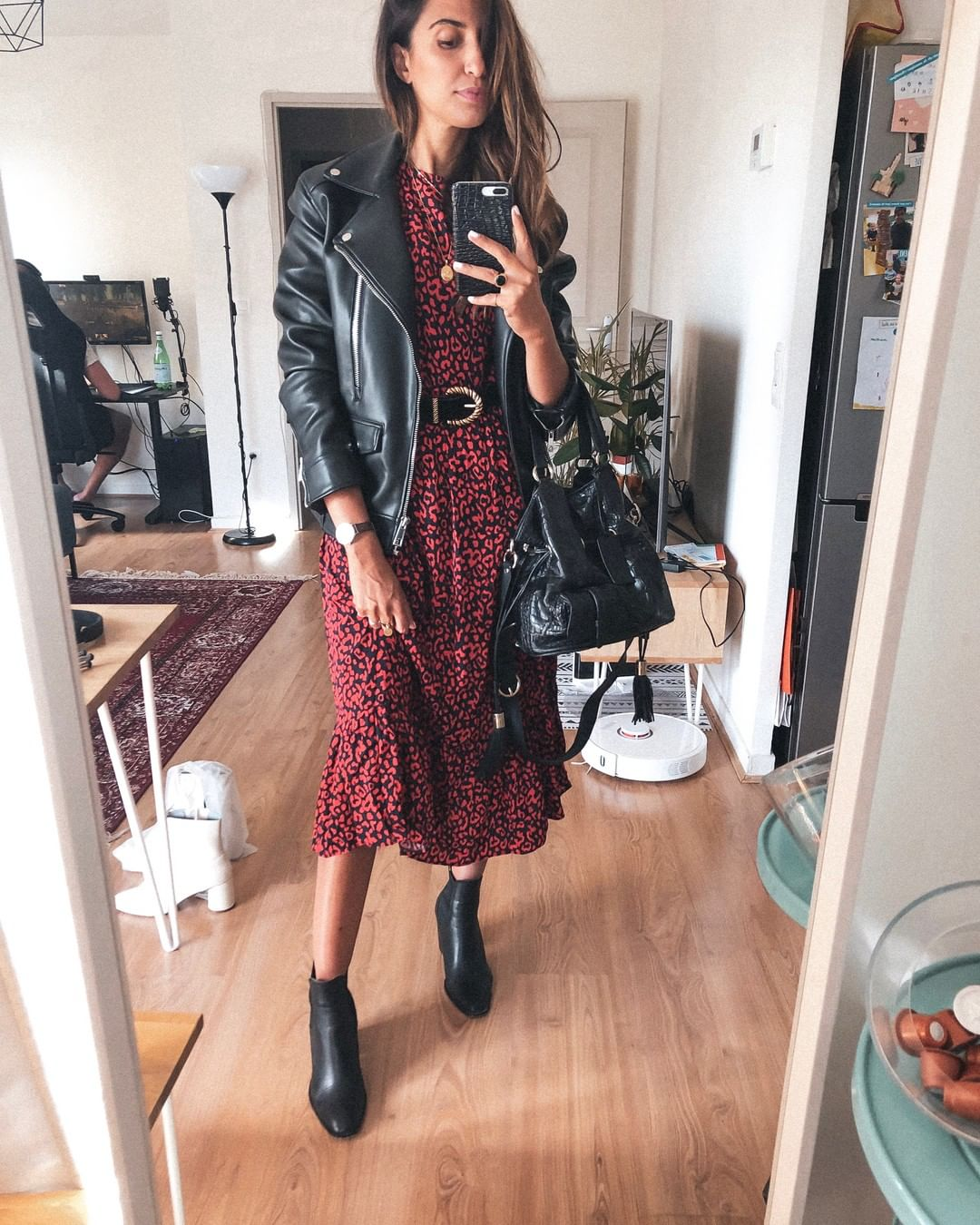 printed dress de Zara sur roseandmusc