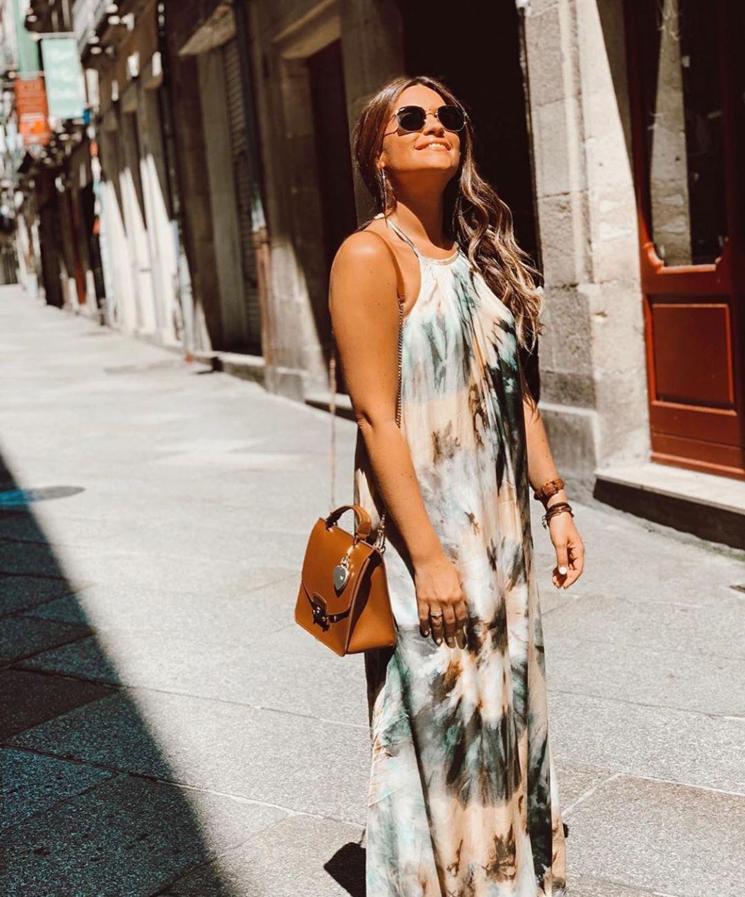 robe à imprimé tie & dye de Zara sur zara.outfits
