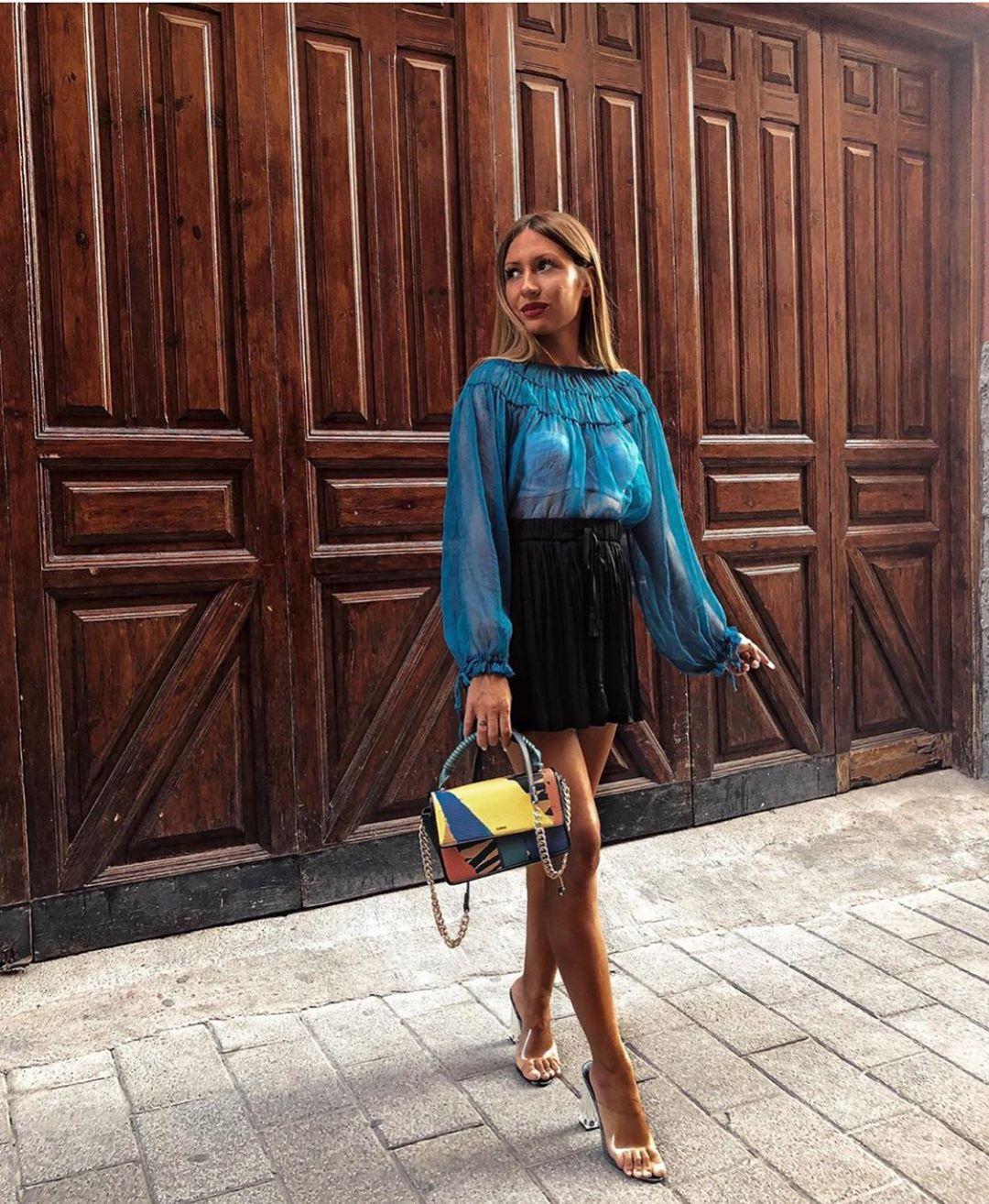 blouse en organza à fronces de Zara sur zara.outfits