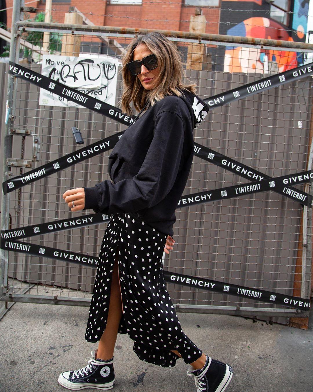 polka dot satin skirt de Zara sur yasmine.zeroc