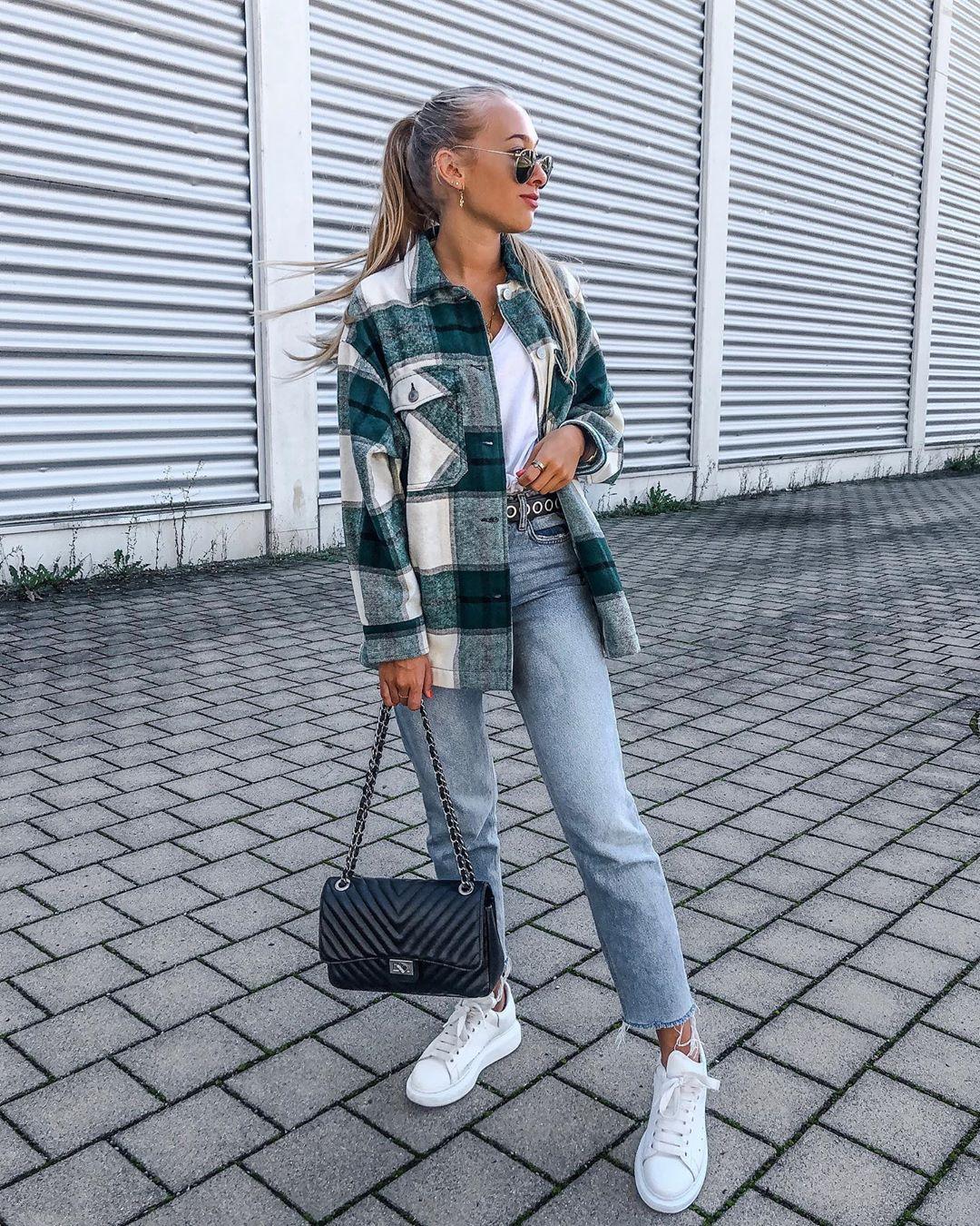 plaid overshirt de Zara sur aliziazuschlag