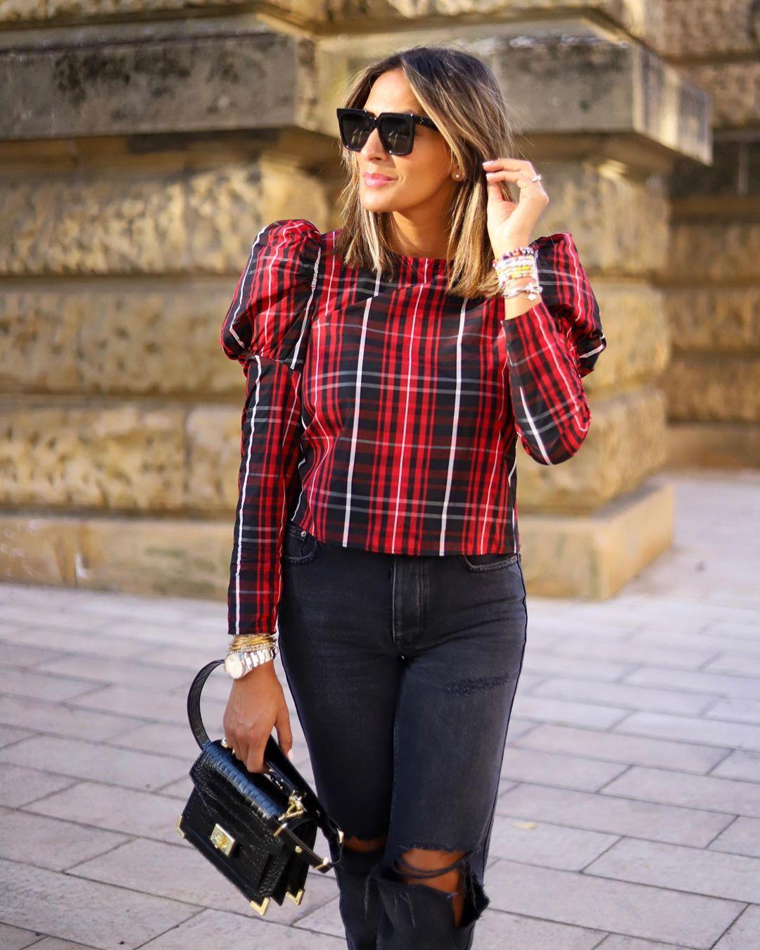 puff sleeve blouse de Zara sur yasmine.zeroc